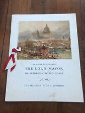 More details for dinner to the victoria cross & g.c assocation ! mansion house 61- 62 .  scarce !