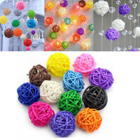 20pcs Rattan Wicker Cane Ball Decoration for Christmas Wedding Home Party Decor