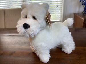 "Vintage Lou Rankin Westie 13"" Plush Realistic Dog! West Highland Terrier NICE"
