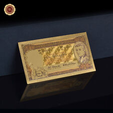 WR Australian Pre Decimal Note Coloured 1/2 Pound Gold Banknote Collectible Gift