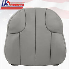 2000 Jeep Grand Cherokee Laredo Driver Top Lean Back Leather Seat Cover Gray