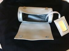 vintage silver cosmetic/make up bag/purse (evening bag)