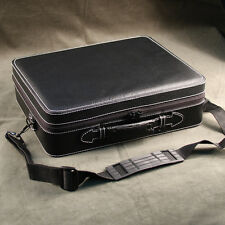 EXECUTIVE TRAVEL BRIEFCASE STYLE WATCH CASE HOLDS 26 WATCHES BOX MENS GIFT IDEA