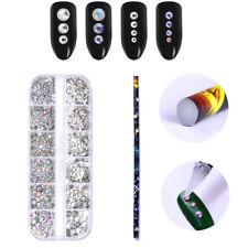 Rhinestones Bead Picker Wax Pencil Dotting Pen with Chameleon 3D Nail Decoration