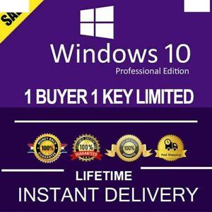 Microsoft Windows 10 Pro Product Key Lifetime 1 Activation Code