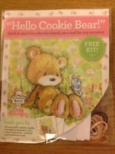 Cookie Bear With Butterfly Any Occasion Cross Stitch Card Kit