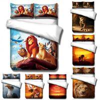 3D The Lion King Anime Bedding Set Duvet  Cover Pillowcase Comforter Cover Set