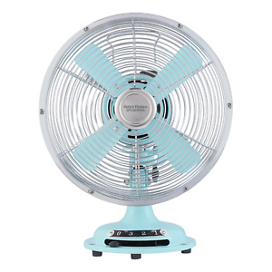 Better Homes & Gardens 8'' Retro 3-Speed Metal Table Fan, Multi Colors, Free S