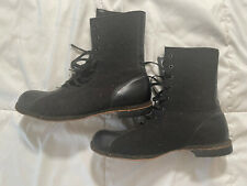 Vintage Biltrite Military Boots Wool Size 11/11.5 Small Moth Hole Solid Boots