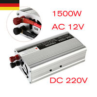 1500W Power Inverter Auto USB Adapter DC12V zu AC220V Mobile Ladegerät Konverter