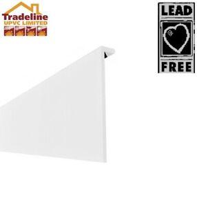 Plastic Skirting  Board ( Cover Over ) Square Edge White Upvc