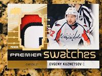 2016-17 Upper Deck Premier Premium swatches Evgeny Kuznetsov 3 Color /25