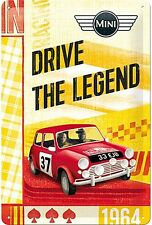 Mini Drive The Legend embossed metal sign  300mm x 200mm  (na)  REDUCED