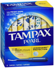 Tampax Pearl Plastic Fresh Scent Tampons, Regular Absorbency, 18 Count