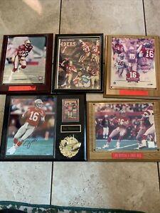 JOE MONTANA AUTOGRAPHED Jerry Rice Lot Of Plaques 49Ers Nfl Football Super Bowl