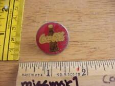 1970s pin tie tac Coca Cola Bottle red circle pin mini vintage HTF