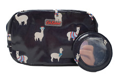 Cath Kidston Make up Cosmetic Alpaca bag in Midnight blue Oilcloth