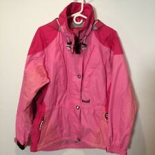 Marker Womens Ski Jacket Pink Zip Up Hooded Mesh Lined Snow Winter Shell Coat 8