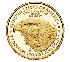 2021 American Eagle One-Tenth Ounce Gold Proof Coin New ReversePRESALE- TYPE 2