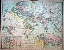 Orbis Berrarum The World Map 1892 Dietrich Reimer Kiepert's Atlas Antiquus
