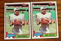 1981 TOPPS FOOTBALL #405 KEN STABLER  - Oilers (2)