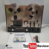 Akai 4000DS MKII Fully Prof. Serviced Reel to Reel Tape Recorder +Manual +Reels+