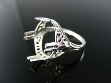 R105 RING SETTING STERLING SILVER, SIZE 8.5, 18X13 CABOCHON OVAL