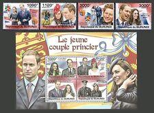 Burundi 2011 Royalty William & Kate Mariage Royal Set & M/feuille neuf sans charnière