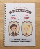 A5 Personalised Wedding Planner or Blank Note Book - Vintage Couple Design