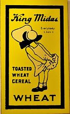 Miniature Metal Advertising Sign Dollhouse / Train – King Midas Wheat Cereal