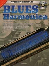 PROGRESSIVE BLUES HARMONICA Book & CD