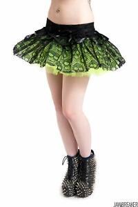 Womens Ghoul Tutu Green Mini Skirt Girls Alternative Gothic Steampunk Goth