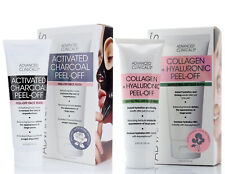 Advanced Clinicals Peel Off Mask Set of Two Charcoal Collagen 3.8 Fl Oz (118mL)