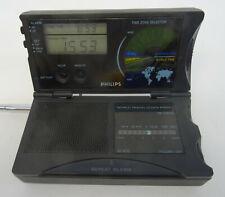 Vintage World Travel Clock radio FM receptor-Philips ae4230/00 mini radio de plegado