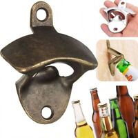 Wall Mount Bottle Opener Beer Bottle Cap Catcher Bar Kitchen Tool - Bronze Color