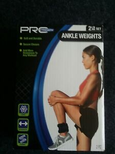Pro Strength 2 LB Set Ankle Weights, Core, Strength and Toning USA NEW