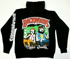 BACKWOODS Hooded Sweatshirt Cheech & Chong Weed Blunt Pullover Hoodie Men's New