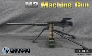 ZY TOYS 1/6 Scale US M2 Heavy Machine Gun w/ metal bullet chain New Version