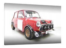 MINI COOPER S Auto da Rally - 30x20 pollici Canvas-Foto Incorniciata Stampa Wall Art