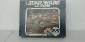 """1977 Star Wars X-Wing Jigsaw Puzzle 500 Pieces Sealed New In Box 15.5"""" X 18"""" K4"""