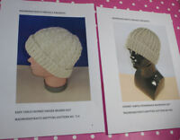 BARGAIN:  2 X PRINTED KNITTING PATTERN INSTRUCTIONS - 2 X  CHUNKY BEANIE HATS