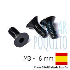 10 tornillos M3 6mm cabeza plana hexagonal prototipos pcb Arduino electronica