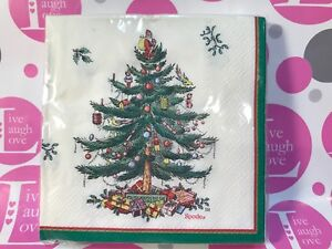 Spode Christmas Tree SEALED PK OF 20 Paper Beverage/Dessert Napkins