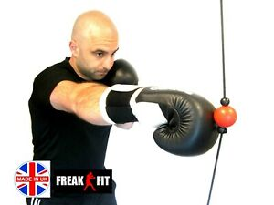SUPER MINI Double End Speed Ball Floor to Ceiling Punch Bag MMA Boxing reaction