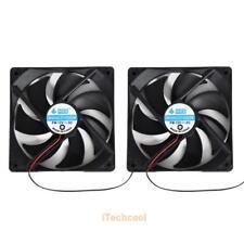 2pcs 120mm 120mm x 25mm 12V 4Pin DC Brushless PC Computer Case Cooling Fan