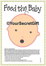 """FEED the BABY"" Shower Game for 20. Ready to play unlike pin the dummy pacifier"