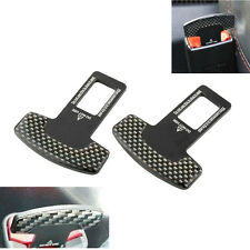 2 Pcs Seat Belt Control Buckle Clasp Insert Plug Eliminate Stop Alarm for Toyota