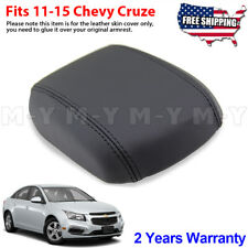Fits 2011-2015 Chevy Cruze Leather Console Lid Armrest Cover Black