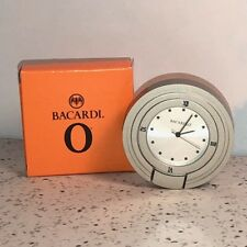 BACARDI RUM COLLECTIBLE POCKET TRAVEL TABLE WATCH SILVER CASE O MINIATURE BOX 2