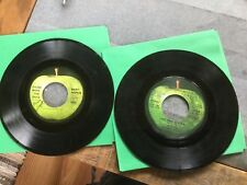 Two 45 Apple Records: Mary Hopkins-Those Were the Days, Wings-Live & Let Die